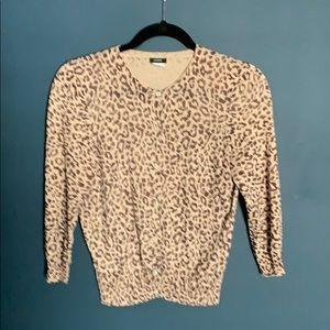 J. Crew Sweaters - J Crew cotton linen leopard cardigan